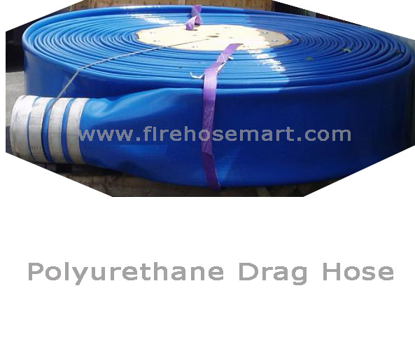 "8""x660ft Polyurethane-covered layflat frac water transfer hose - Click Image to Close"