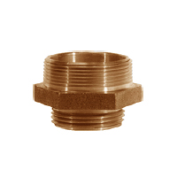Double Male Hex Nipple Brass
