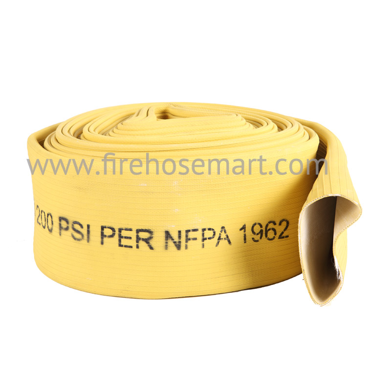 "4""x50' #400 Yellow Rubber Covered Hoses Bulk Hose"